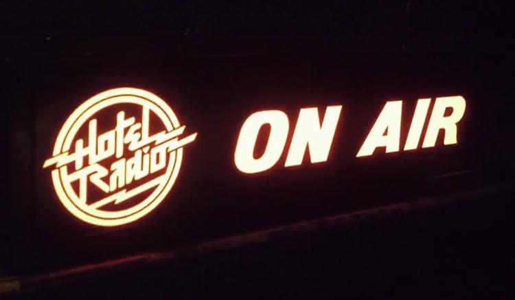 Hotel Radio logo Neon glow