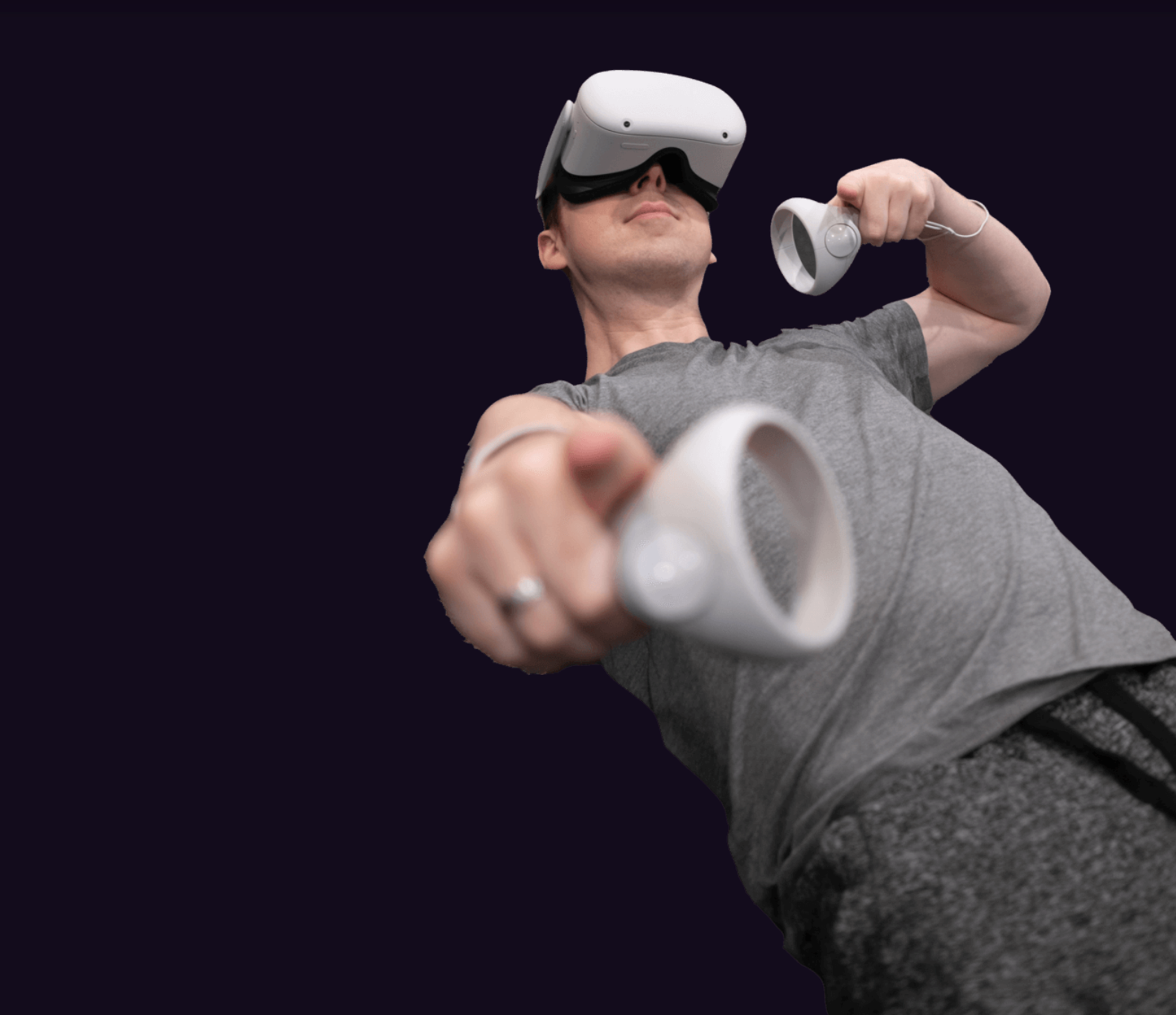 A man in a VR headset