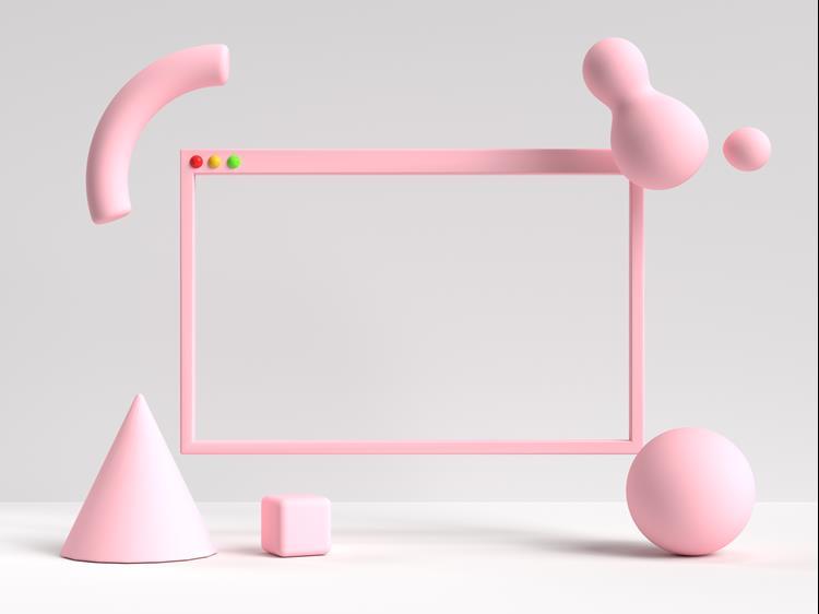 Modern abstract website frame