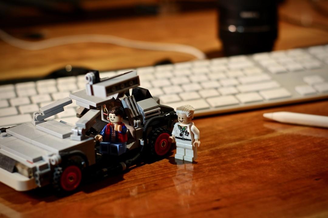 Lego on Joel's Desk